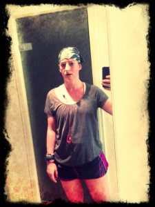 Me post run, drowned from the rain