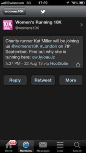 I'm on the Women's Running UK site