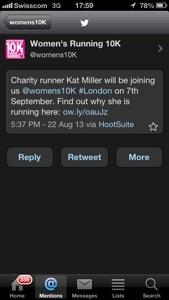 I'm on the Women's Running UK site