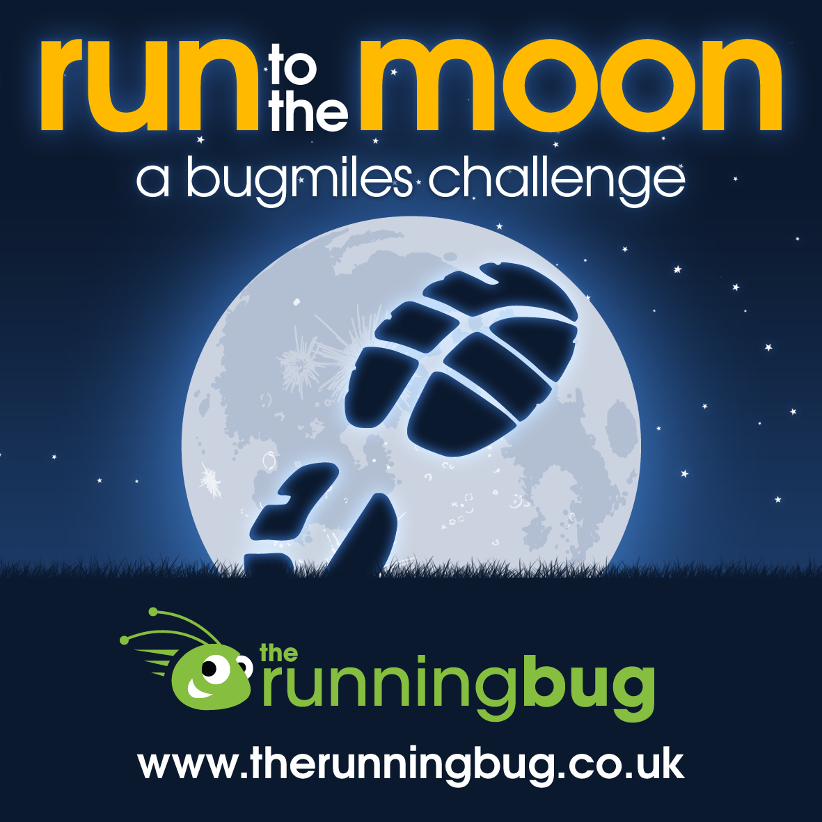 Run to the Moon with the Running Bug