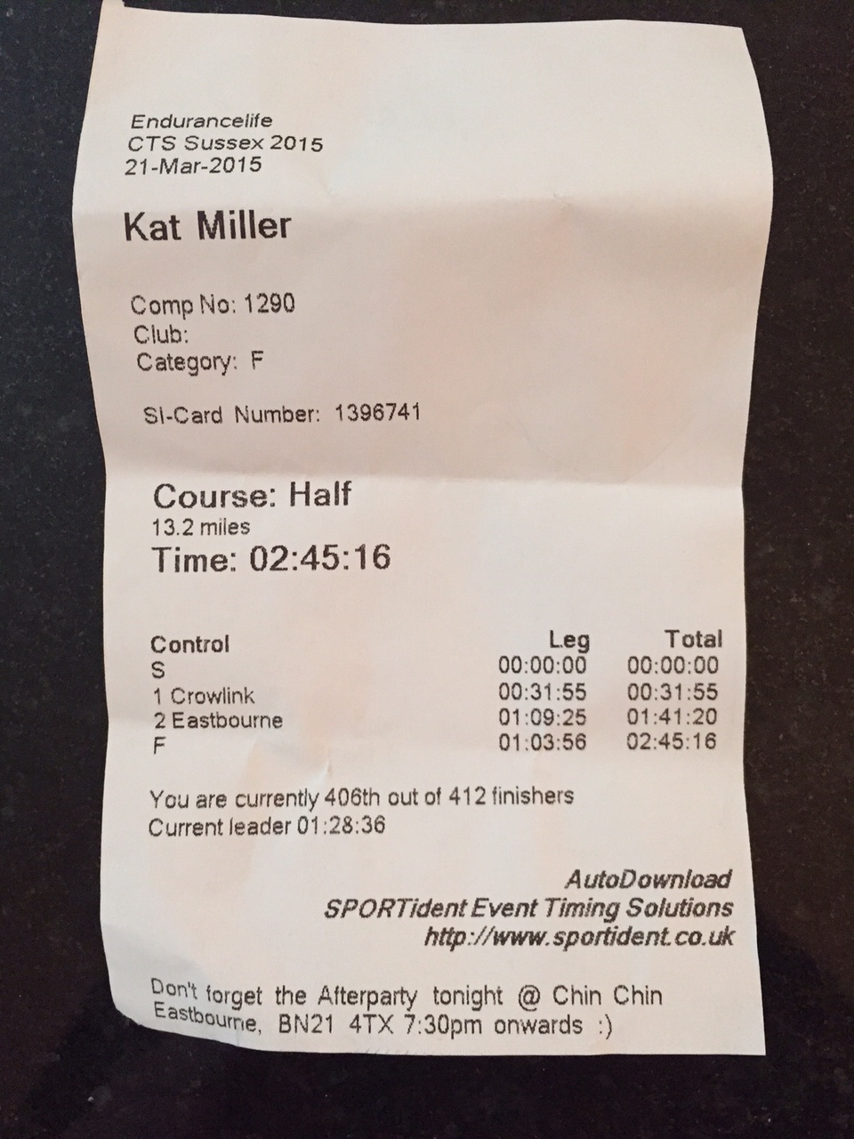 Race Review: CTS Sussex Half – the return