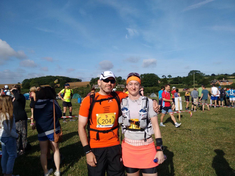image the Boyf and I pre race
