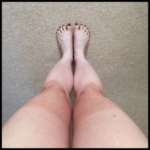image - legs with tanned knees