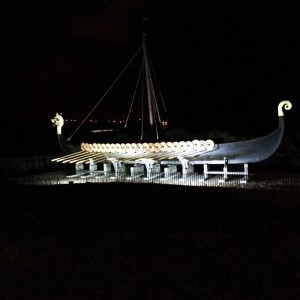 image of Hugin Ship in the dark
