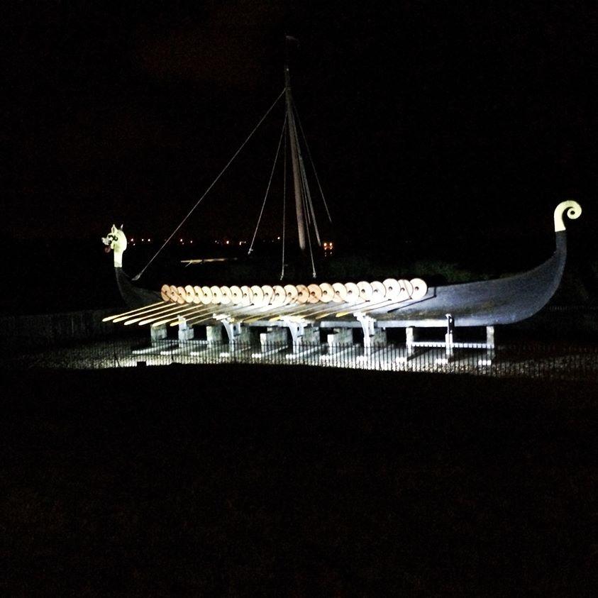 image of Hugin Ship in the dark
