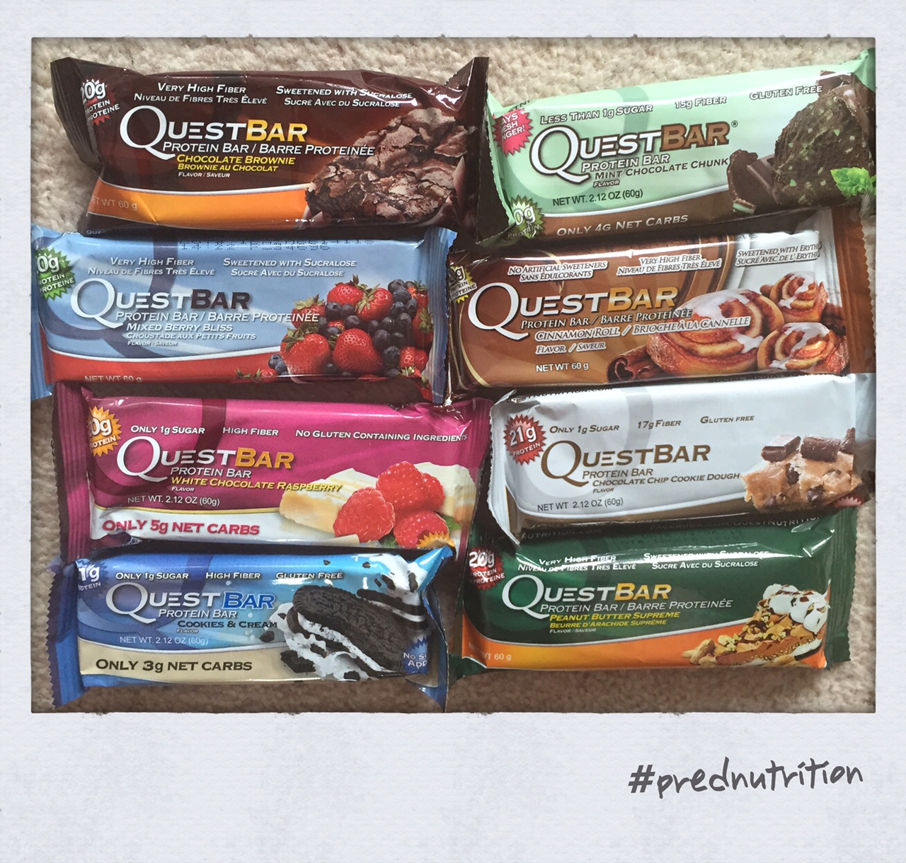 image - 8 Quest bars multiple flavours