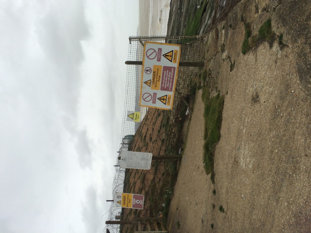 Image of signs at Dymchurch firing range