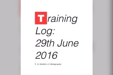 Training Log: 29-6-16