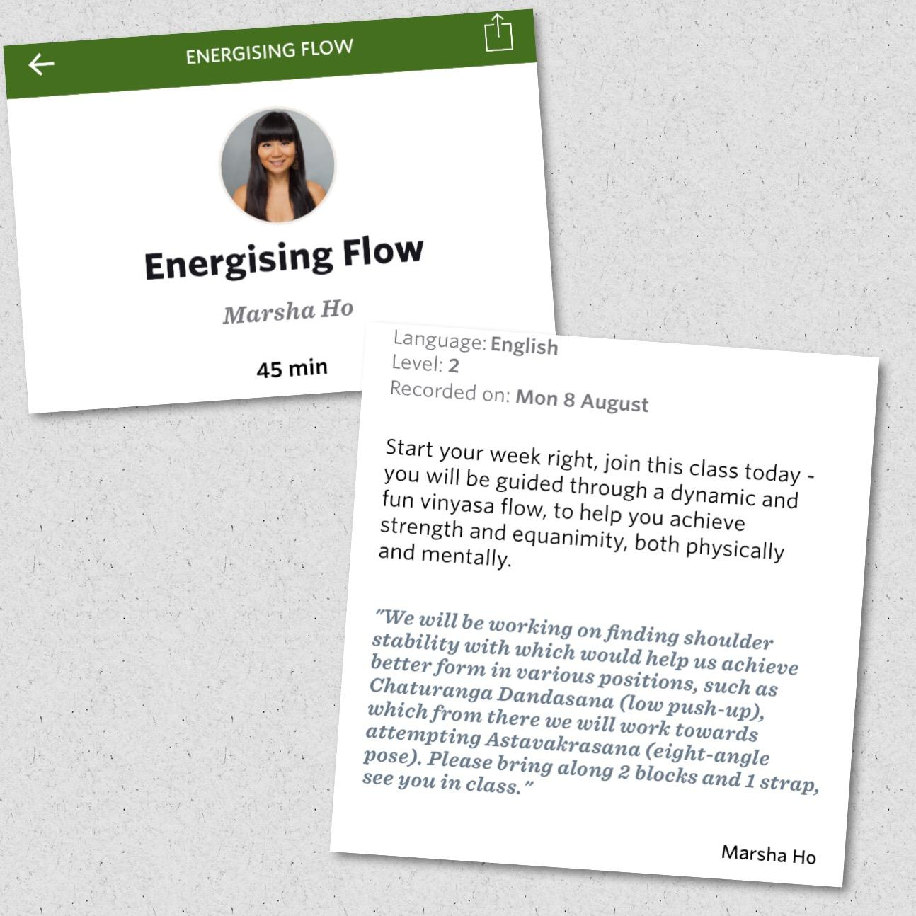 Image - Yogaia energising flow summary