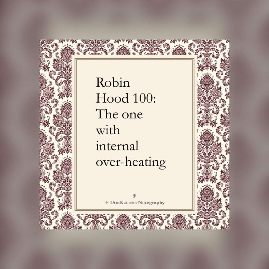 Image of text - Robin Hood 100 the one with interna over-heating