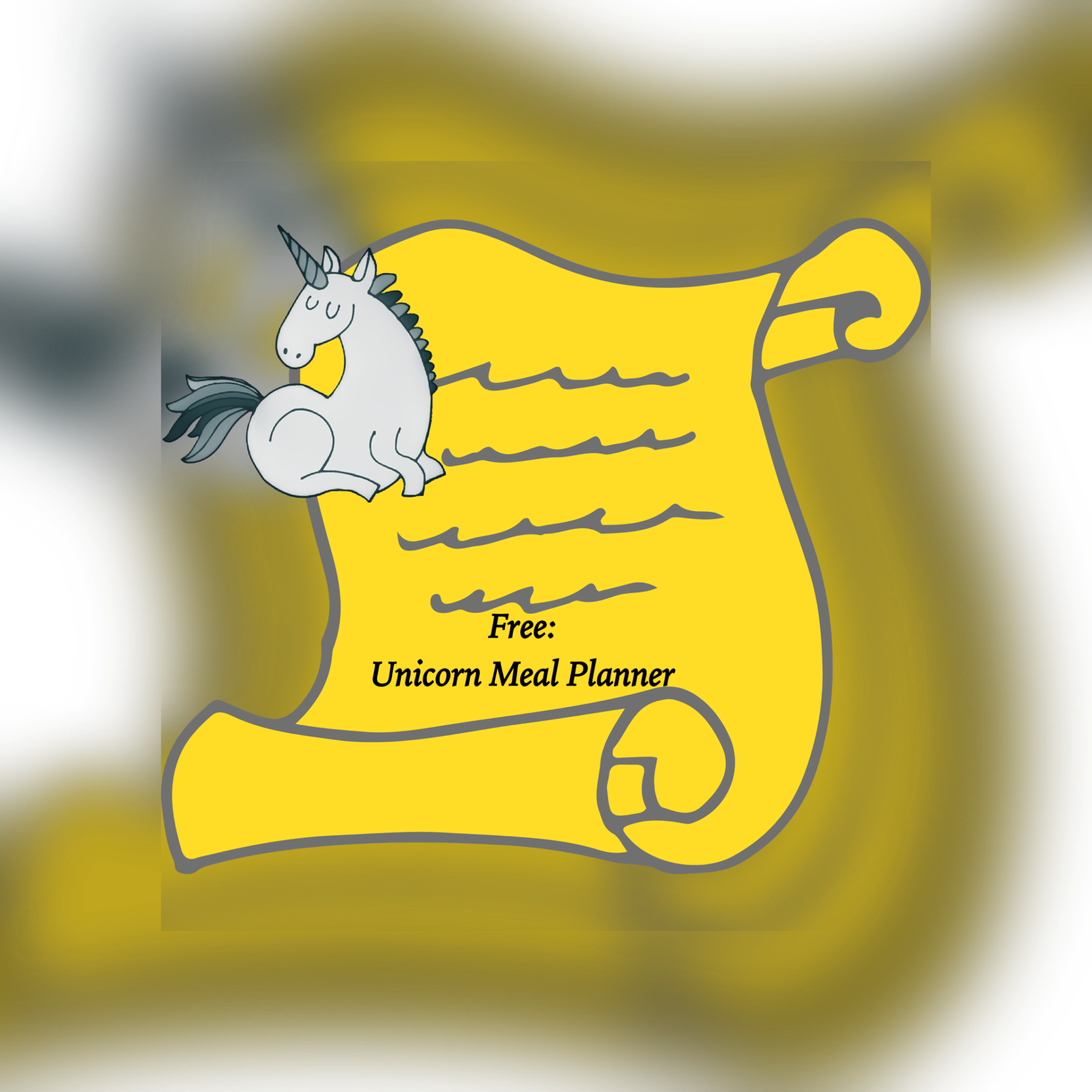Image free unicorn meal planner