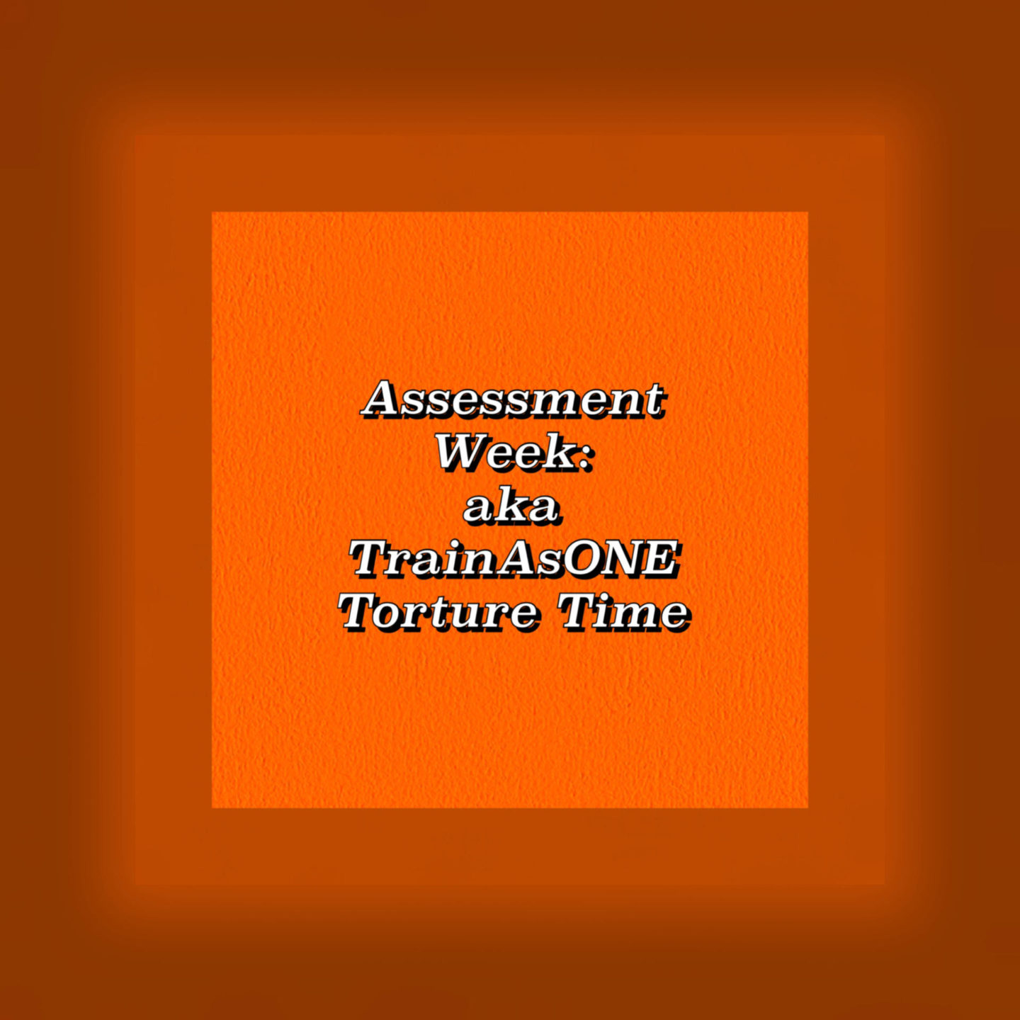 Image wording - Assessment Week: aka TrainAsONE Torture Time
