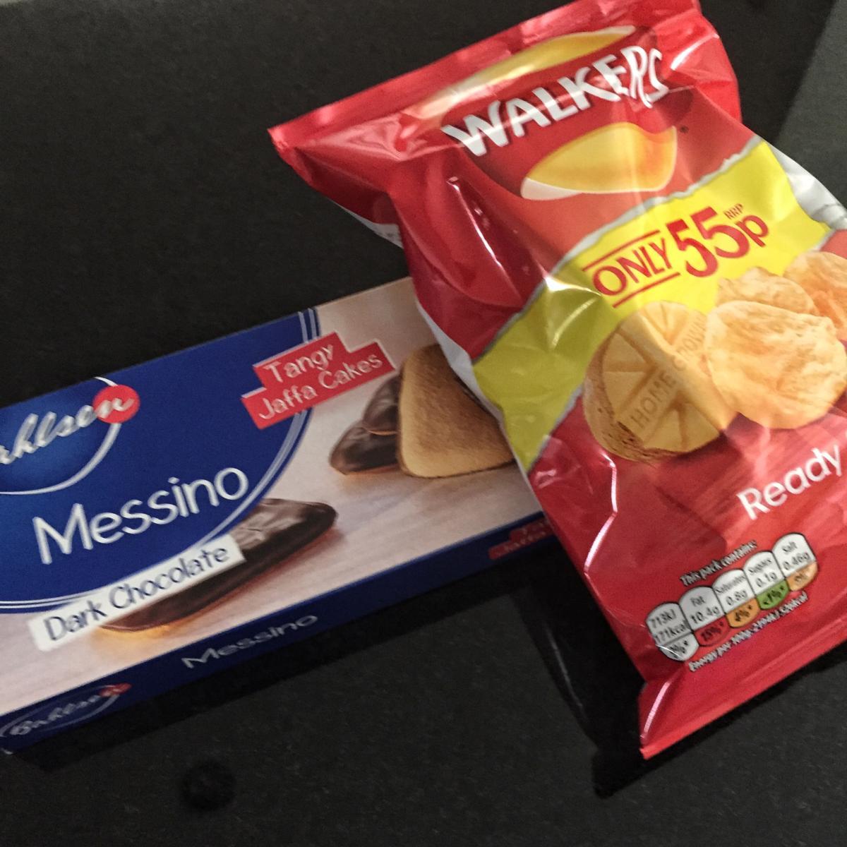 image - jaffa cakes and crisps