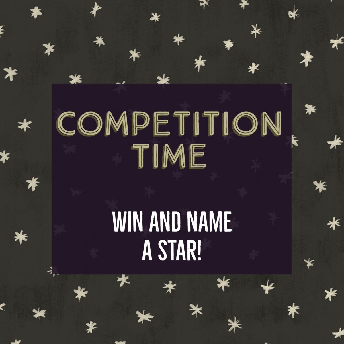 Competition Time: Name a Star