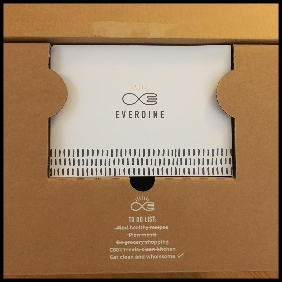 Everdine unboxing – top layer