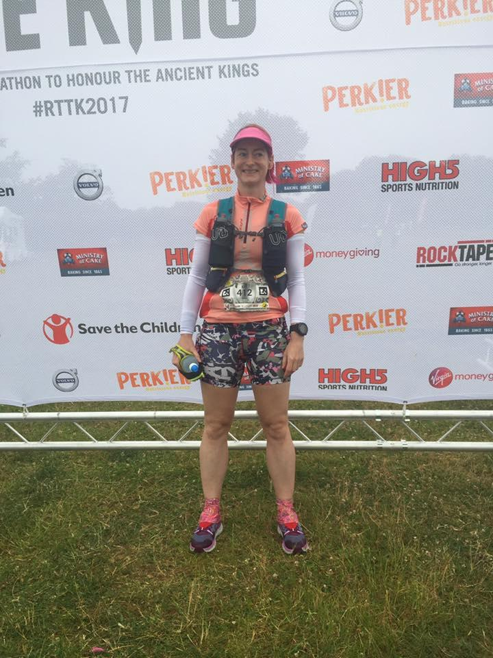 image - Kat Miller at teh start of Race to the King #RTTK2017