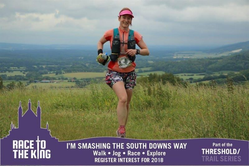 image - Kat Miller atop the hills at Race to the King #RTTK2017