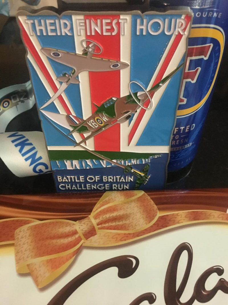 Image shows the Battle of Britain Race medal