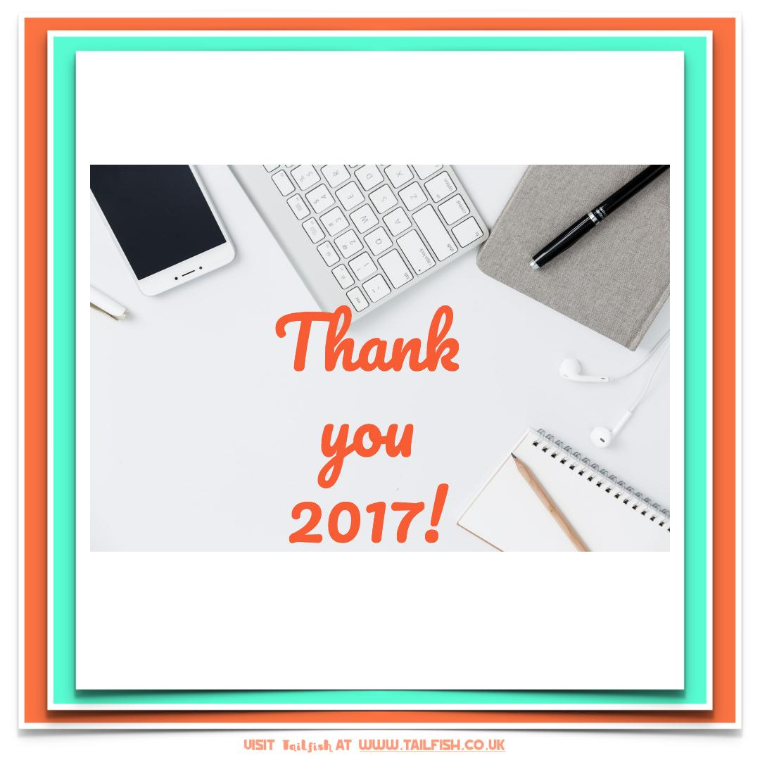 Image - flatly desk - text says Thank you 2017!