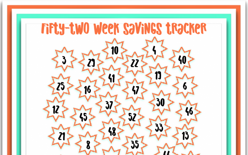 Freebie Friday: 52 Week Savings Tracker